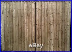 Wooden driveway Gates, Garden gates, Double Gates, Featheredge Gates Heavy Duty