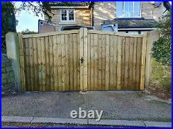 Wooden driveway gate h 1.8m w 3.0m heavy duty frame 7x10cm DELIVERY FREE