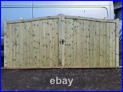 Wooden driveway gate h 1.8m w 393cm heavy duty frame 7x10cm DELIVERY FREE