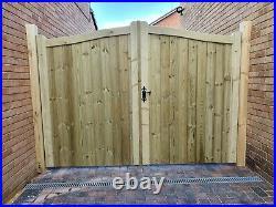Wooden driveway gate h6ft w12ft heavy duty frame 7x10cm