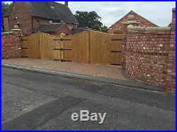 Wooden driveway gates