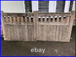 Wooden driveway gates One Pair Heavy Duty 9 Foot Wide 4 Ft High With Hinges
