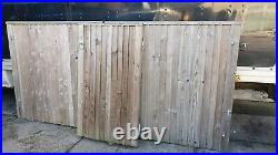 Wooden driveway gates and side gate