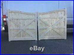 Wooden driveway gates elite swan neck