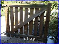 Wooden driveway gates (pair) 2 x 48 X 42 timber 1.7/8 used EX condition