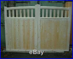 Wooden driveway gates surrey arch top
