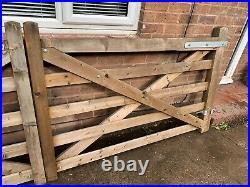 Wooden farm driveway gates
