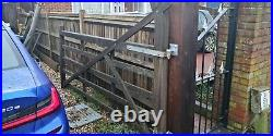 Wooden gate 2 parts for driveway or field